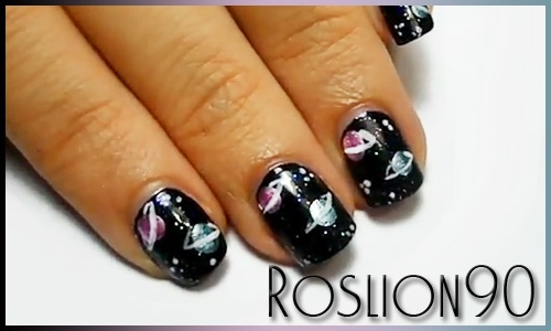 Roslion90 Nails & Co.: Galaxy Planet Nail Art