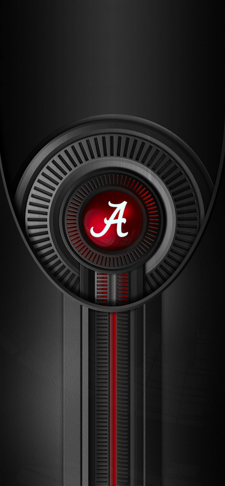 Alabama Crimson Tide Football logo iPhone wallpaper (With