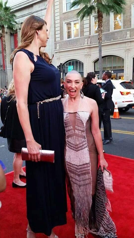 Erika Ervin (Amazon Eve in Freak Show) and Naomi Grossman (Pepper in Asylum and Freak Show)