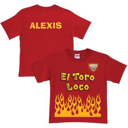 Personalized Monster Jam El Toro Loco Uniform Toddler Boys' T-Shirt, Red, Toddler Boy's, Size: 5 - 6 Years