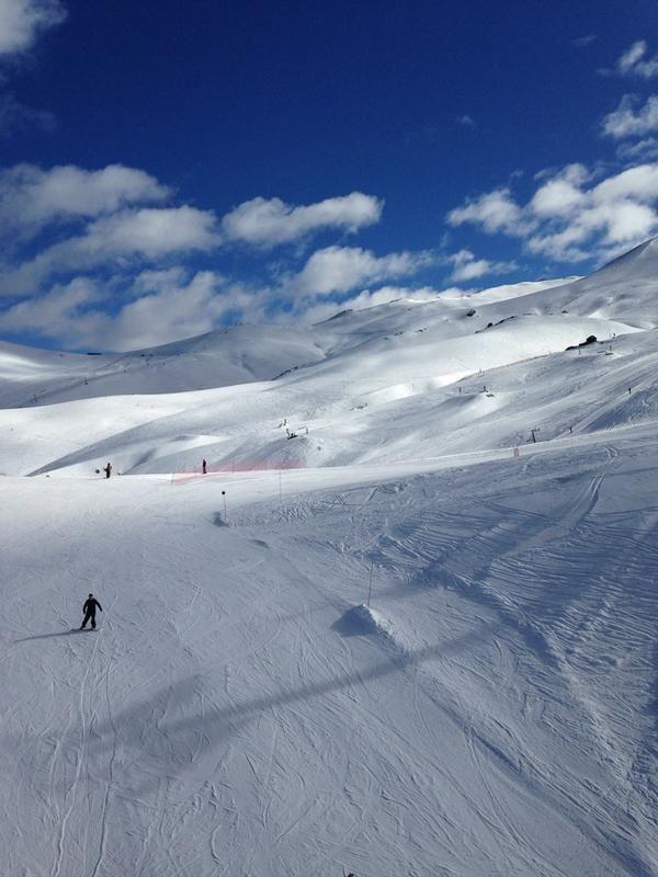 Esquiando en Valle Nevado