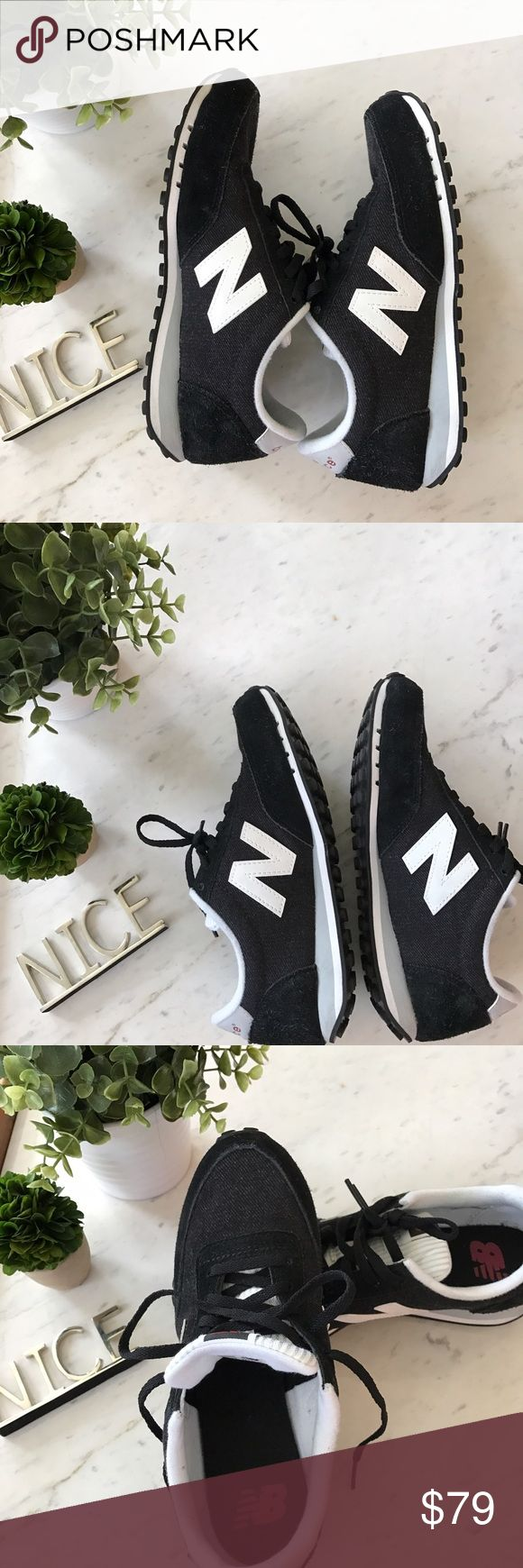 NEW! New Balance Black and White size 7 🖤 .  I have too many New Balance and a small closet!  😍😍😍😍😍😍.  All are 10/10 condition used a few times.   All come with New Balance BOX! 💚Mint and Yellow 620 style - size 7 US   ❤️Red and Black 410 style - size 7.5 US   💚Green 420 style - size 7.5 US  💜Purple 420 style - size 7.5 US                                            🖤Black and white 410 style - size 7 US [this listing]   If you want more photos, just ask me 📸  Smoke and pet free…
