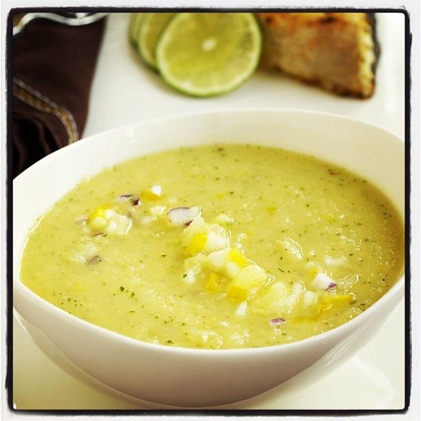 "@dolenutrition's photo: ""Our delicious Pineapple Gazpacho #fruitlovers #gazpacho"""