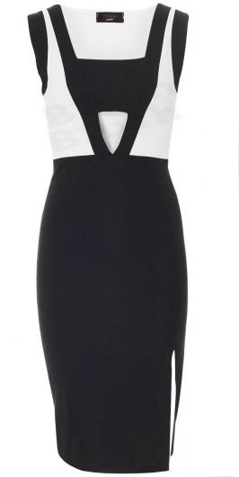 Michelle  Inspired Black Bodycon Dress