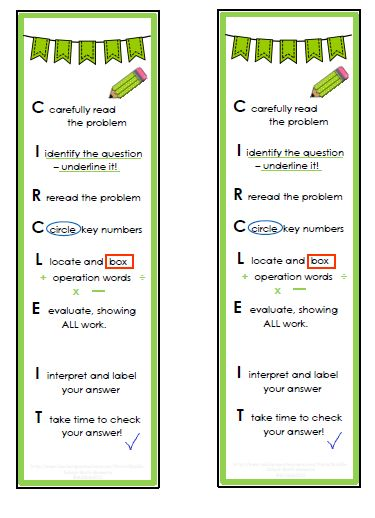 Workin' On It Wednesday blog post - free problem solving strategy bookmark (free for a limited time).