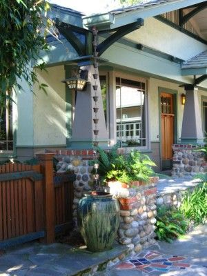 Craftsman Exterior by Laura Livingston Landscapes i love this idea and its functional..