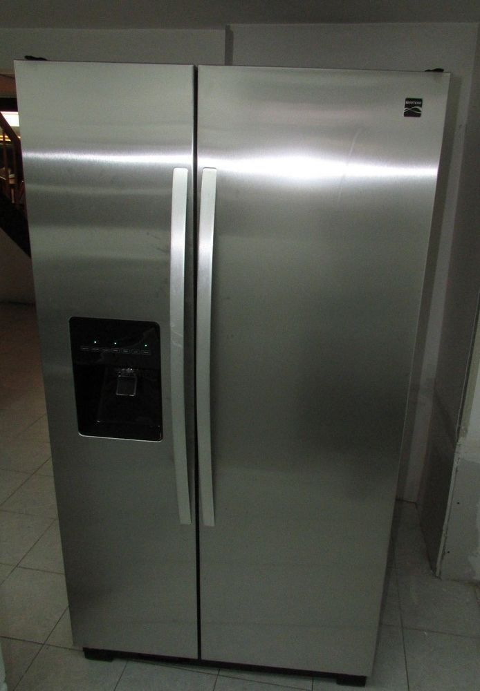 Kenmore 36 Coldspot Stainless Steel Refrigerator With Water Ice 106 50023211 Kenmore Coldspot Stainlessst Stainless Steel Refrigerator Letgo Refrigerator