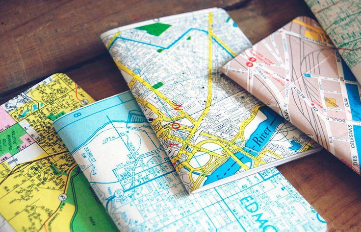 Faça você mesma um caderninho especial para uma viagem inesquecível :-)