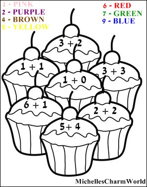 Fun With Learning Addition Coloring Sheet Michellescharmworld