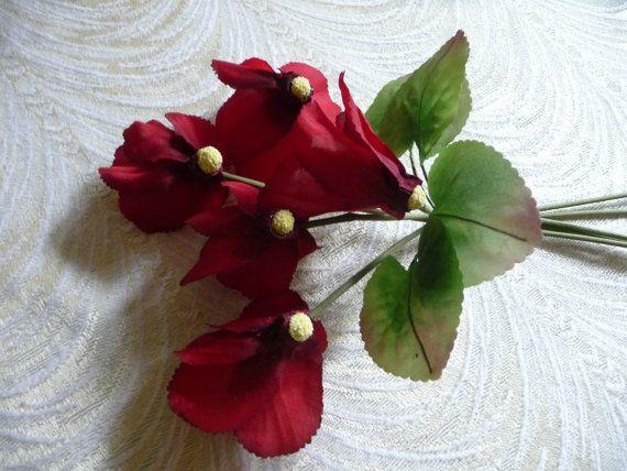 17 best vintage millinery flowers images on pinterest floral vintage cyclamen nos silk millinery flowers bunch of by apinkswan mightylinksfo