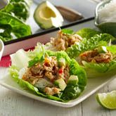 Thai Chicken Lettuce Cups with Avocado & Lime - Coles Recipes & Cooking