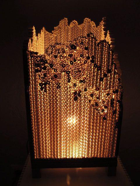 Lampe d'ambiance en carton ©sarreve 2012