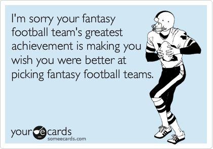 My fantasy football team: Victorious Secret