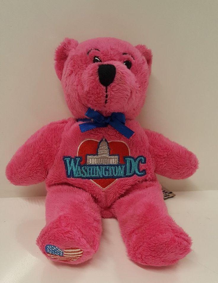 Washington DC The Nation's Capital Symbolz 2011 Pink Heart USA Soft Teddy Bear  #Symbolz