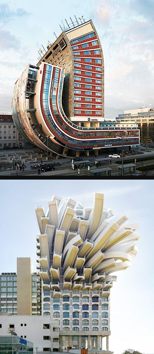 Fotoğrafçı ve sanatçı Victor Enrich, projesinde kentleri sürreal binalarla donatıyor.. Bu yapılar gerçekten var olsun ister miydiniz?