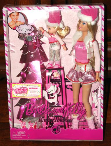 Barbie and Kelly Pink Holiday Barbie Dolls Set RARE Hard to Find New in Box 2008 027084547566 | eBay
