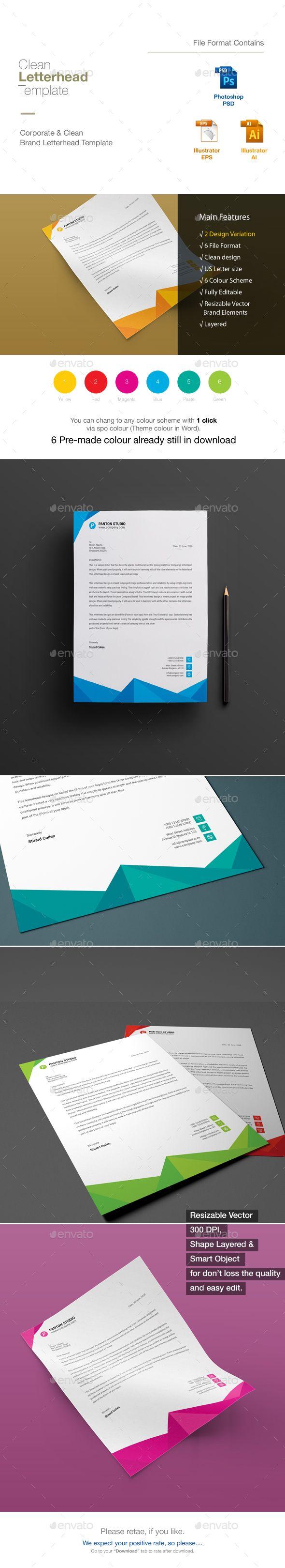 80 best letterhead design templates images on pinterest contact letterhead spiritdancerdesigns Image collections