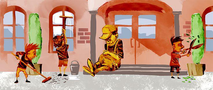 Wer in einer Berliner Schule zu spät kommt, muss beim Hausmeister klopfen und den Schulhof putzen. Glaubst du nicht? Die ganze Geschichte gibt es hier: http://magazin.sofatutor.com/schueler/2013/11/08/hausmeister-freut-sich-uber-zuspatkommer-und-turnbeutelvergesser/