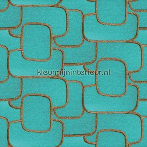 Reflecto aqua blauw behang VP 841 03 uit de collectie Parade van Elitis voordelig bij kleurmijninterieur
