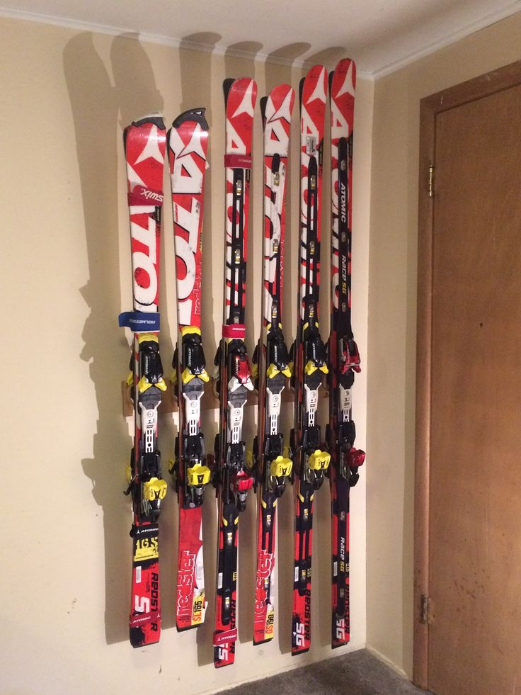 Affordable Ski Storage Rack A Ski Racers Quiver Supported By The Totti  Button Ski Rack With Ski Storage Ideas.