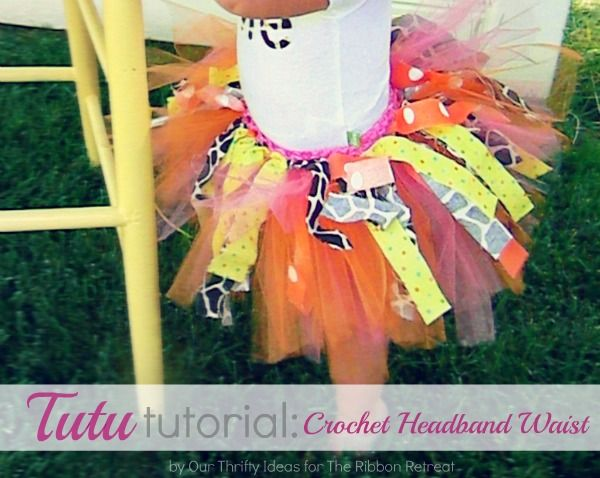 Tutu Tutorial: Crochet Headband WaistHeadbands Waist, Tutu Skirts, Make Tutus, Kids Crafts, Crafts Tutorials, Tutu Tutorials, Headbands Tutu, Tutorials Crochet, Crochet Headbands