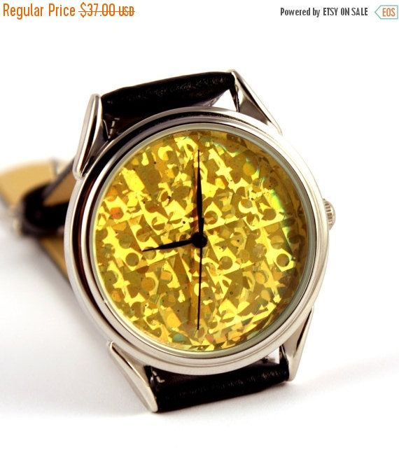 25% OFF ON SALE Watch hologram gold color hologram watch watches for men and women, mens watches, womens watches, ladies watches, wrist watches