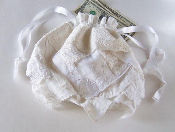 Wedding Dollar Dance Money Dance Bag by GreenbriarCreations