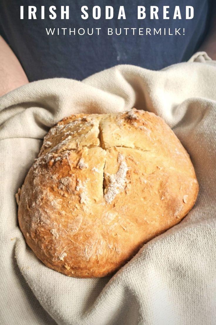 Homemade Irish Soda Bread recipe without buttermilk. No ...