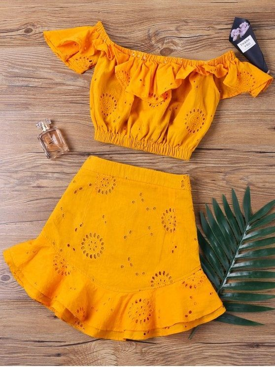 Up to 80% OFF! Off The Shoulder Ruffle Skirt Two Piece Set. #Zaful #TwoPieces zaful,zaful outfits,zaful dresses,spring outfits,summer dresses,Valentine's Day,valentines day ideas,valentines outfits,cute,casual,classy,lace,mesh,fashion,style,bottoms,shorts,jumpsuits,rompers,playsuits,playsuit outfit,dressy jumpsuits,playsuits two piece,two piece outfits,two piece dresses,dresses,printed dresses,sundresses,long sleeve dresses,mini dresses,maxi dresses,lace dress @zaful Extra 10% OFF…