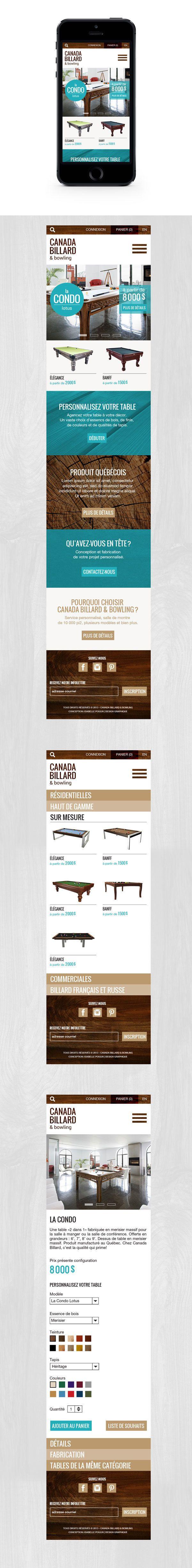 Canada Billard - mobile - Projet scolaire | Collège Salette | Été 2013