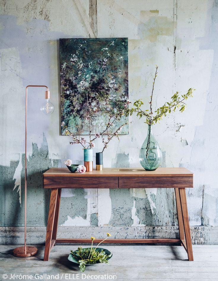Branches d'amandiers dans un décor zen  - 6 petits bouquets champêtres charmants - Elle Décoration
