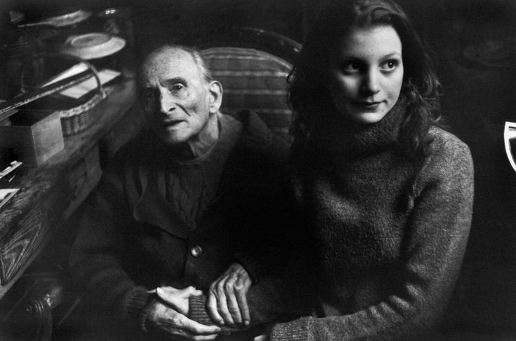 Photos of Henri Cartier-Bresson: SWITZERLAND. Canton of Vaud. Rossinière. 1999. Painter Balthus with his model Anna Wahli.