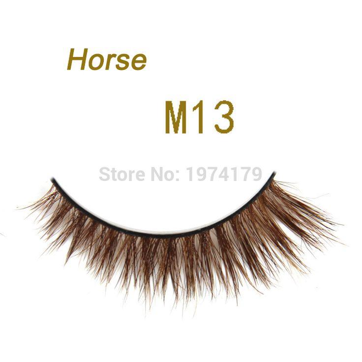 1 Pair/3D/BRĄZOWY/M13 konia lashes Sztuczne Rzęsy/Profesjonalny makijaż oczu lashes/Krótki z przodu longShort z przodu długo w 1 Para/zestaw Handmade Super Long Konia Włosy Sztuczne Rzęsy Rzęsy dla Urody Makijaż Premium dla Maquillage-M13 Op od Sztuczne Rzęsy na Aliexpress.com | Grupa Alibaba