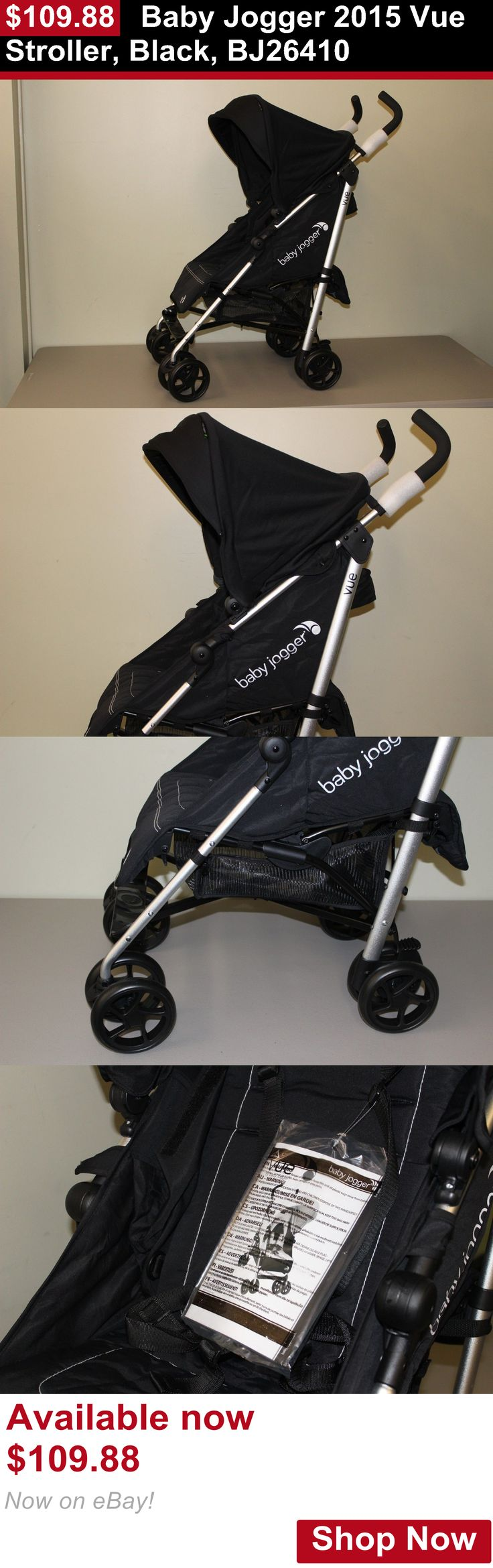 Strollers: Baby Jogger 2015 Vue Stroller, Black, Bj26410 BUY IT NOW ONLY: $109.88
