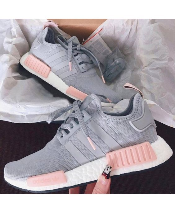 newest b1600 ef697 Womens Adidas NMD R1 Clear Onix Pink Grey Shoes