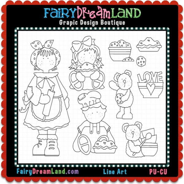 Baking Hodge Podge CU Digital Stamps by FairyDreamLand.com