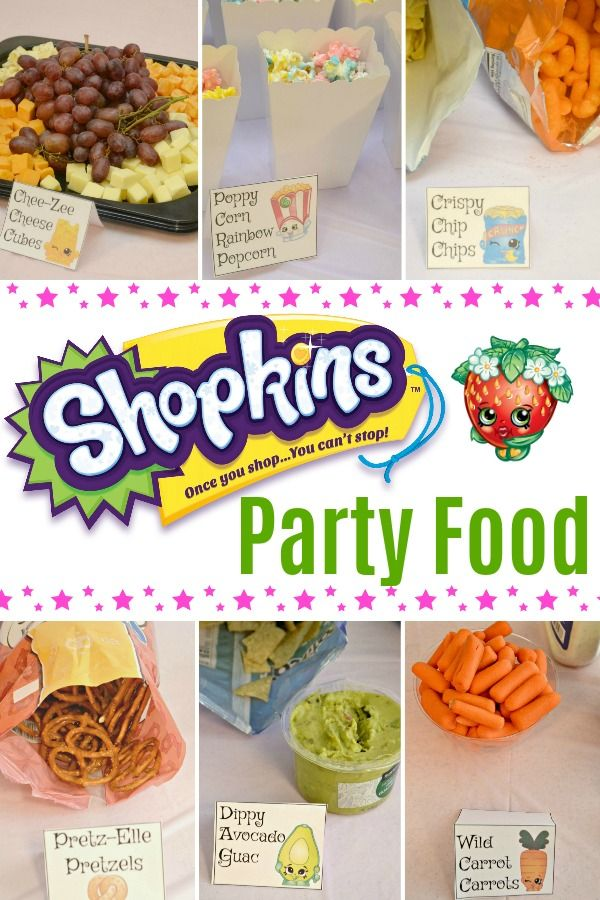 Throwing A Shopkins Birthday Party Girl Birthday Party Food Kids Party Food Shopkins Party