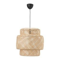 IKEA - SINNERLIG, Pendant lamp, bamboo, -, , Each handmade shade is unique.Gives a soft glowing light, that gives your home a warm and welcoming atmosphere.Provides directed and general light and is great for brightening up your dining table.