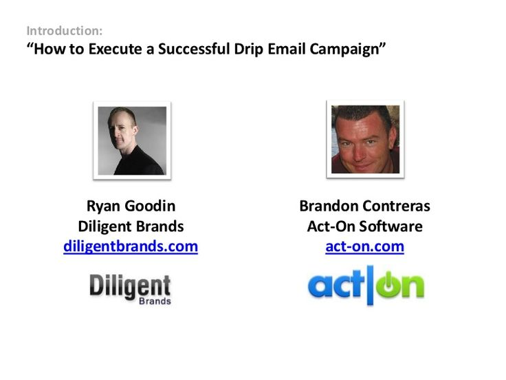 how-to-execute-a-drip-campaign by Act-On Software via Slideshare