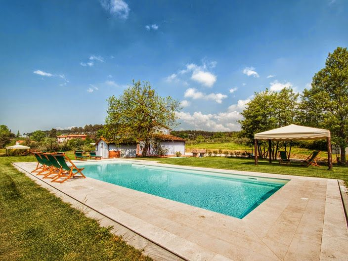 Exterior of a beautiful villa in Lucca - Tuscany. #exterior #garden #pool #summer