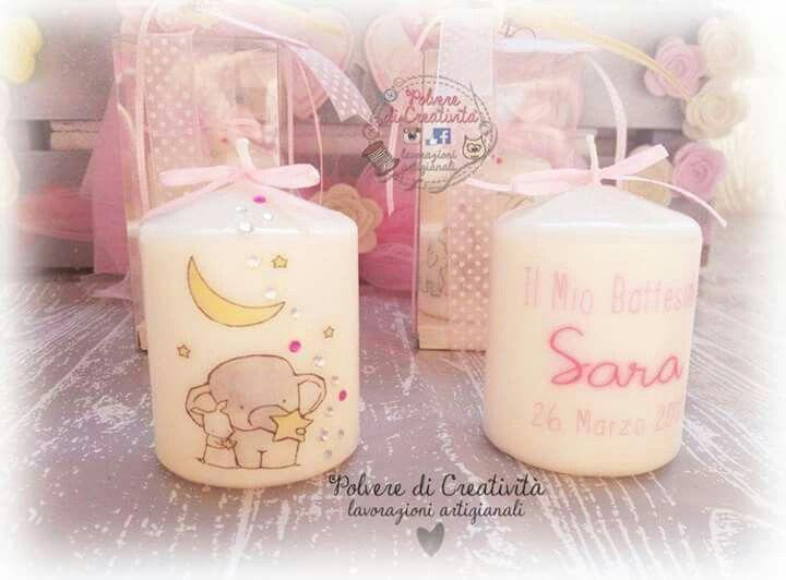 #candela #battesimo #baby #handmade