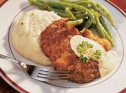 Country Fried Steak And Southern Green Beans