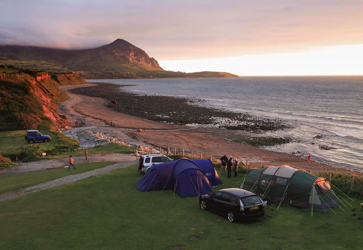 Aberafon campsite-Gwynedd. We were here today and it's definitely a must for the future. Absolutely amazing private beach with stunning views of the ocean.
