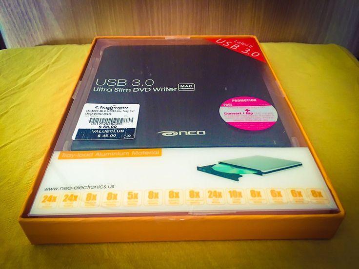 Neo USB 3.0 Ultra Slim DVD Writer