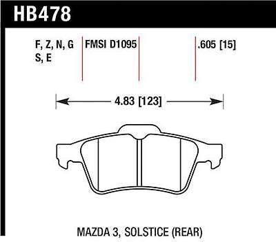Hawk HPS Brake Pads HB478F.605 DS Fits:CHEVROLET  2007 - 2007 COBALT SS L4 2.4