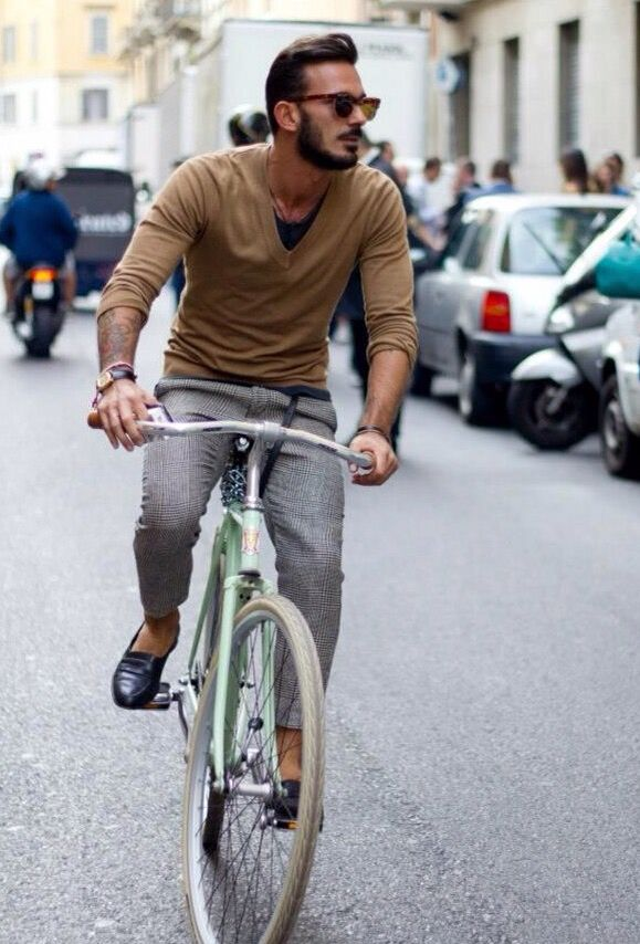 Checked pants how to wear - #menswear #style #spring #summer #brown #sweater #gray #loafer #shoes