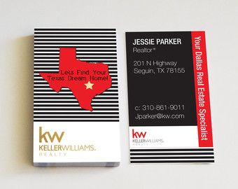 Realtor Business Cards Texas Map Modern by RealEstatedesigns