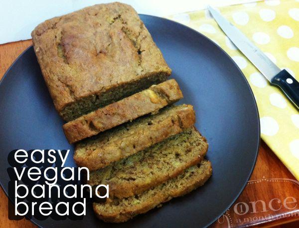 Easy Vegan Banana Bread | OAMC from Once A Month Mom #vegan #vegetarian #freezercooking