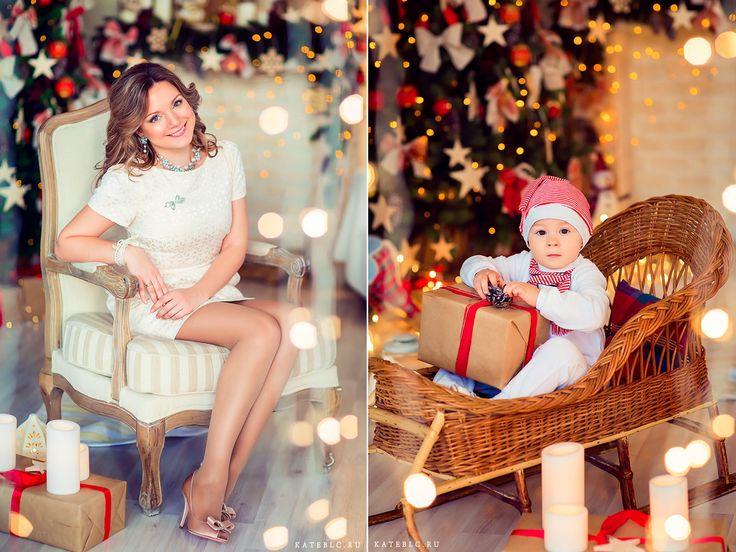 Красивые новогодние фотосессии в студии. Детский и семейный фотограф в Москве