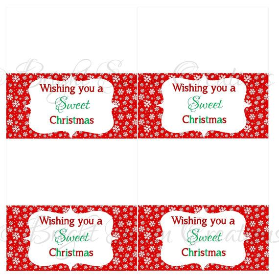 Instant download christmas treat bag topper print all